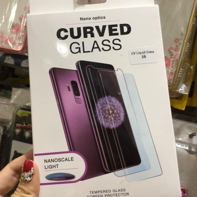 Samsung Galaxy S8 kính cường lực full keo tia UV