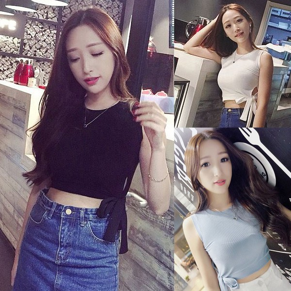 Áo hai dây thắt nơ lưng phong cách Hàn Quốc quyến rũ dành cho nữ - 13909343 , 2497647841 , 322_2497647841 , 142600 , Ao-hai-day-that-no-lung-phong-cach-Han-Quoc-quyen-ru-danh-cho-nu-322_2497647841 , shopee.vn , Áo hai dây thắt nơ lưng phong cách Hàn Quốc quyến rũ dành cho nữ