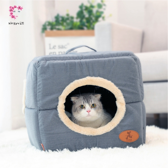 Multifunctional Closed Type Warming House Nest for Pet Cat