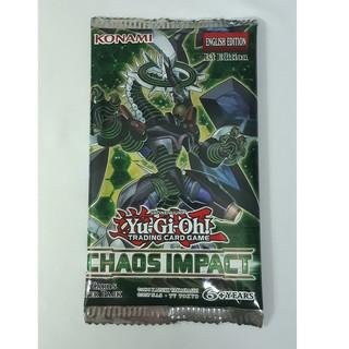 Túi thẻ bài Yugioh Chaos Impact Booster Pack – 09 lá bài thật do Konami sản xuất