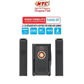 Loa vi tính 2.1 kiêm Bluetooth USB thẻ nhớ Bosston T4000-BT 60W led RGB 7 màu, nguồn 220V (Đen) - Hãng phân phối
