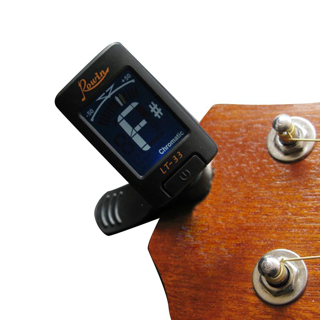 LT-33 LCD Mini Digital Clip Tuner for Electric Guitars Bass Violin Ukulele