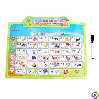 Bảng viết phát tiếng đa năng 11 chủ đề cho bé