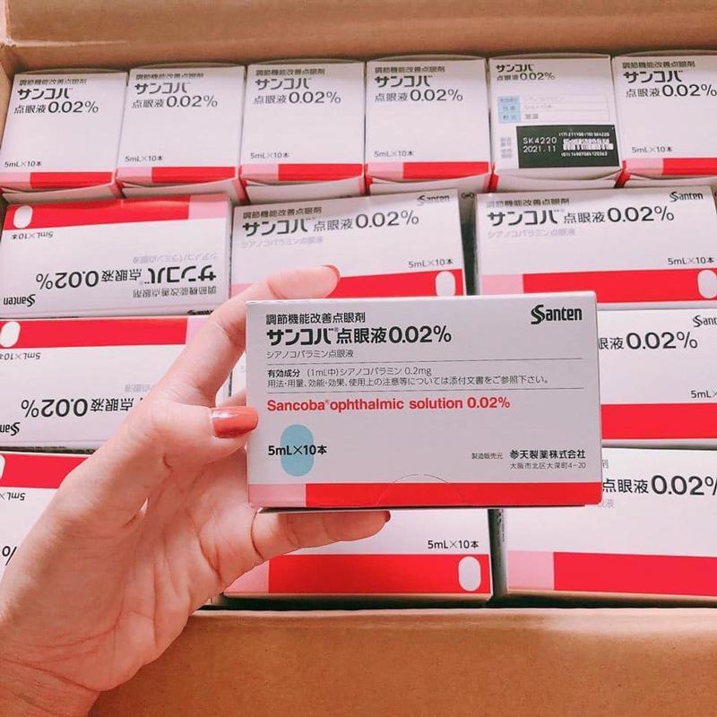 Thuốc nhỏ mắt Sancoba chữa cận thị và chống cận thị Nhật Bản [ Hàng Chính Hãng ]