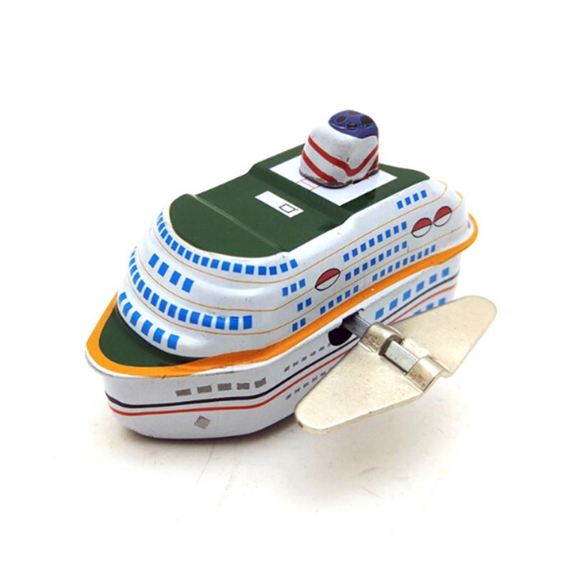 Kids Children Iron Cruise Ship Boat Model Tin Toy Collection Gift 7.5*4.5*4.5cm