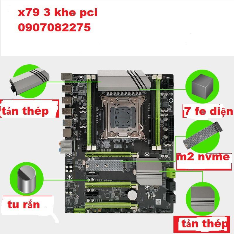 [Mã ELCL05 giảm 5% đơn 500K] main x79 OEM socket 2011 hỗ trợ xeon e5 2650,2689,26xx,v1,v2