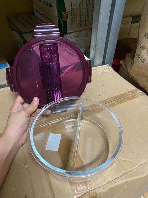 hộp thuỷ tinh đựng cơm chia 2 và 3 ngăn 1000ml