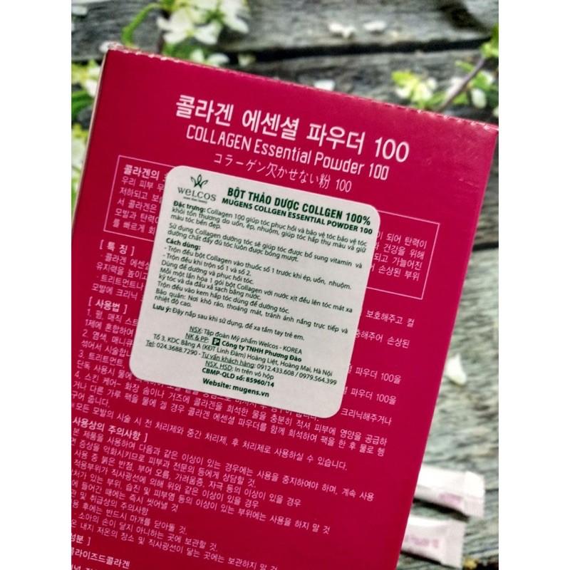 Bột Collagen Tươi Mugens Phục Hồi Tóc Nát Sun 1 gói 3g