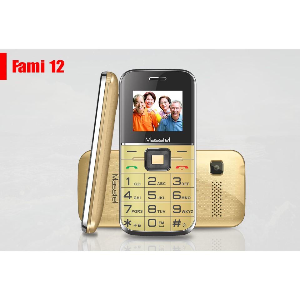 Điện Thoại Masstel Fami 12 (dành Cho Người Già) LOA TO BÀN PHÍM LỚN - MỚI BẢO HÀNH 12 THÁNG