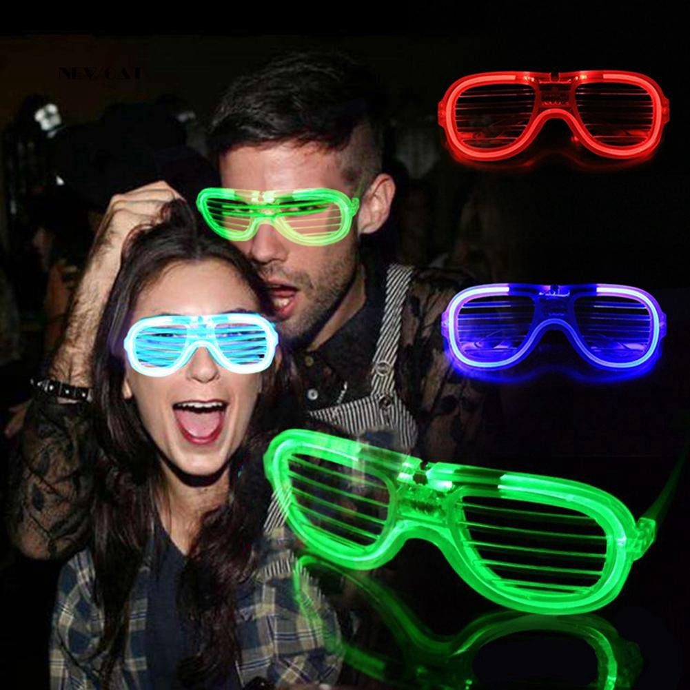 ღNK_3 Mode LED Flashing Glowing Shutter Glasses for Event Party Halloween Supplies