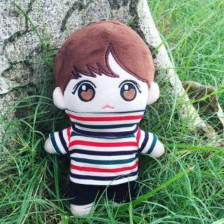 áo kẻ sọc cho doll 20cm