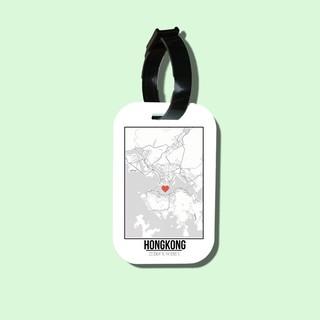 Travel tag cho túi xách balo du lịch in hình Love City - Hongkong thumbnail