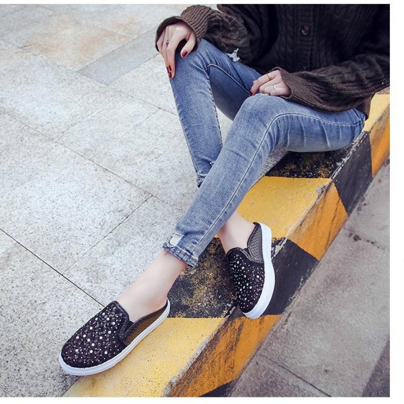 Giày Lười Đính Đá Thời Trang Dành Cho Nữ