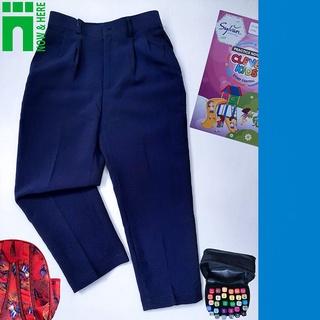 Quần đồng phục học sinh nam TỪ 15KG ĐẾN GẦN 75KG – Quần DÀI đồng phục màu XANH ĐEN – NH Kids Shop
