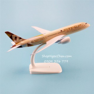 Mô hình máy bay tĩnh B787-8 Etihad Airways 20cm