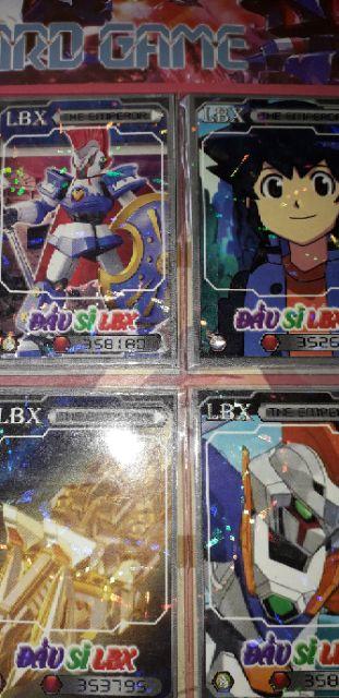 Combo 140 thẻ bài Đấu sĩ LBX bằng giấy bóng cứng rất đẹp