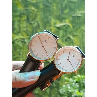 Đồng hồ DMW nam nữ dây da D8732 sang trọng lịch lãm DW
