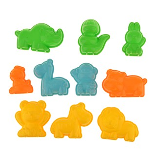 Set of 10pcs Wild Animal Shape Sand Mold Beach Park Indoor Toy Random
