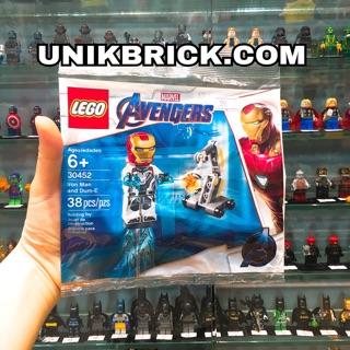 Lego UNIK BRICK Polybag 30452 Iron Man and Dum E – Túi Người Sắt End Game trong Avengers chính hãng (như hình)