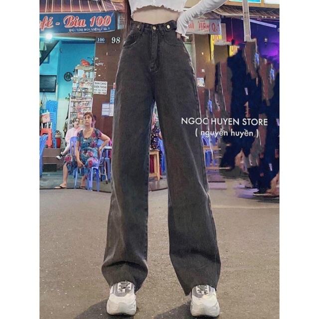 [Có size đại] Quần jean ống rộng hai đai lai tưa mã 3132, kèm ảnh thật