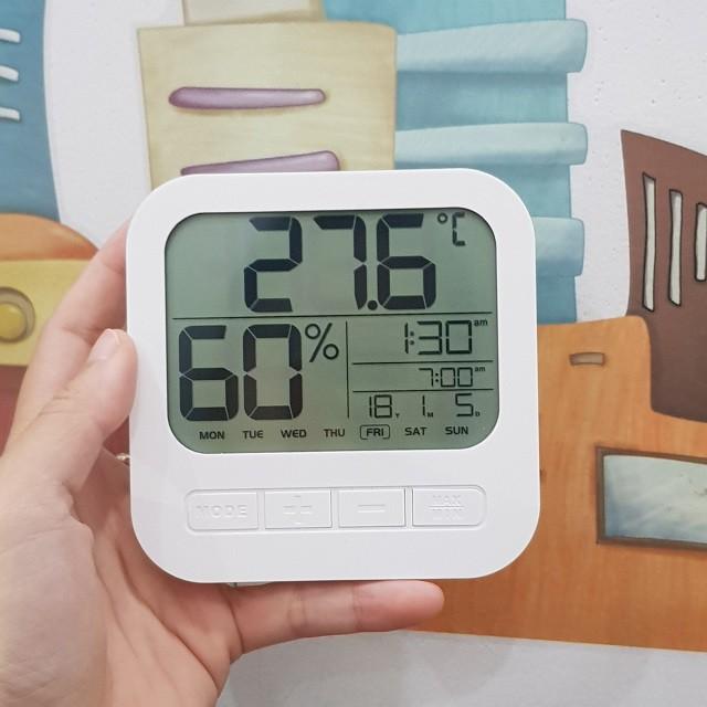 [6in1] Nhiệt Ẩm Kế Điện Tử Đo Nhiệt Độ Và Độ Ẩm Phòng Ngủ Cho Bé, Ẩm Kế Tự Ghi Đa Năng
