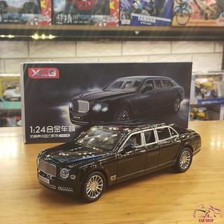 Xe mô hình hợp kim siêu xe Bentley Mulsane tỉ lệ 1:24 hãng XLG màu đen