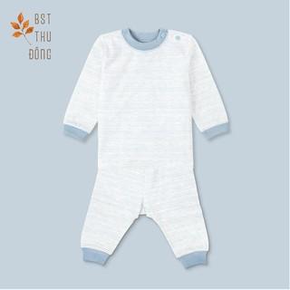 [Mã KIDMALL15 hoàn 15% xu đơn 150K] Bộ quần áo Nút Vai Sọc dày-Miomio