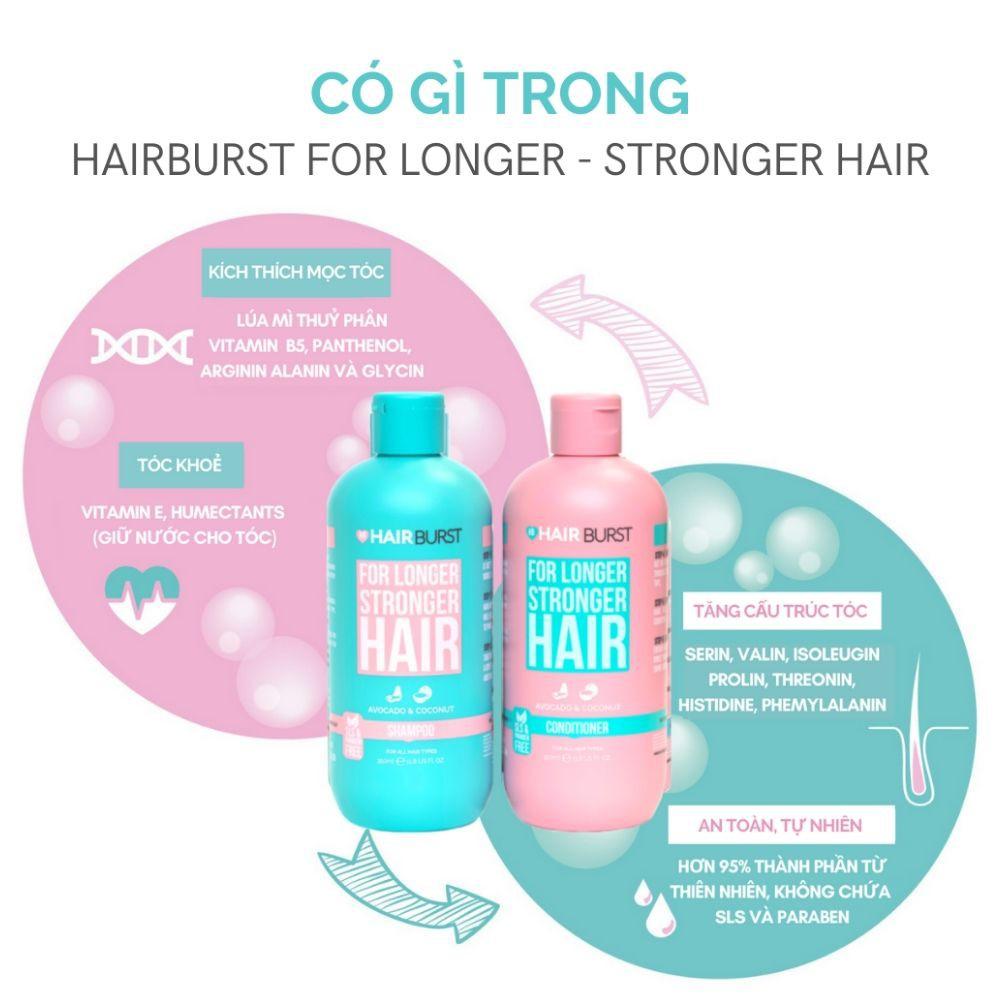 Set Hairburst Gội Xả For Longer Stronger Hair Kích Thích Mọc Tóc (Dầu Gội  350ml + Dầu Xả 350ml) | Shopee Việt Nam