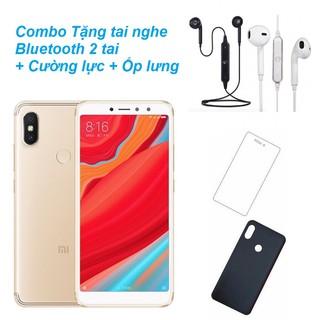 Combo Điện thoại Xiaomi Redmi S2 32GB Ram 3GB + Tai Bluetooth Sport 2 tai + Ốp lưng + Kính cường lực- Hàng nhập khẩu