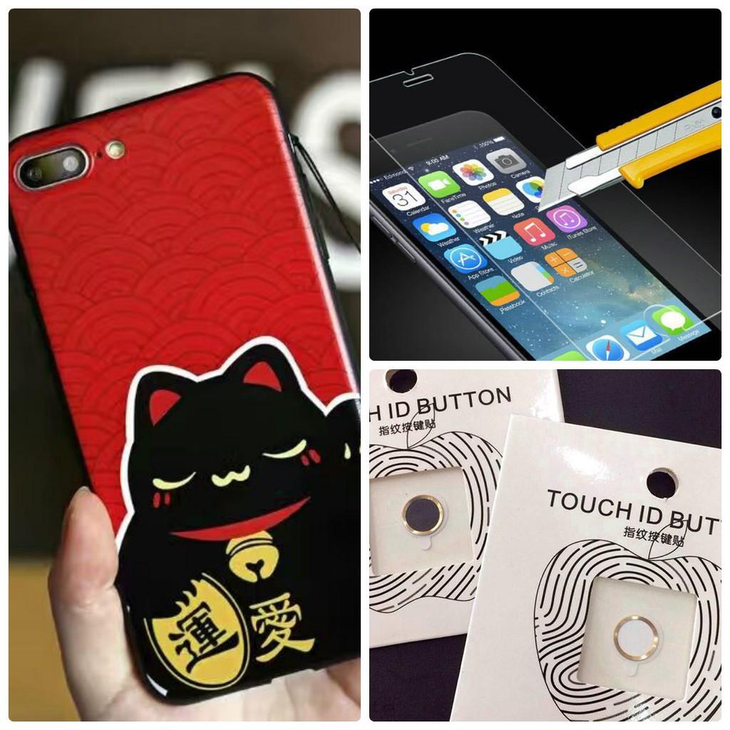 Combo Ốp mèo, kính cường lực và 01 nút home cảm ứng dành cho Iphone 6 plus - 2601097 , 1172697902 , 322_1172697902 , 99000 , Combo-Op-meo-kinh-cuong-luc-va-01-nut-home-cam-ung-danh-cho-Iphone-6-plus-322_1172697902 , shopee.vn , Combo Ốp mèo, kính cường lực và 01 nút home cảm ứng dành cho Iphone 6 plus