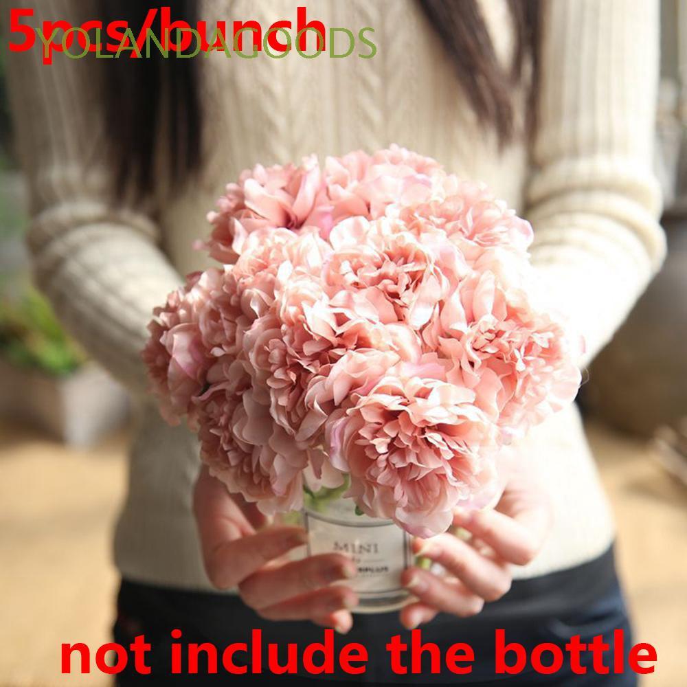 5 Heads Real Touch Blooming Silk Hydrangeas  DIY Craft Handmade Artificial Flowers