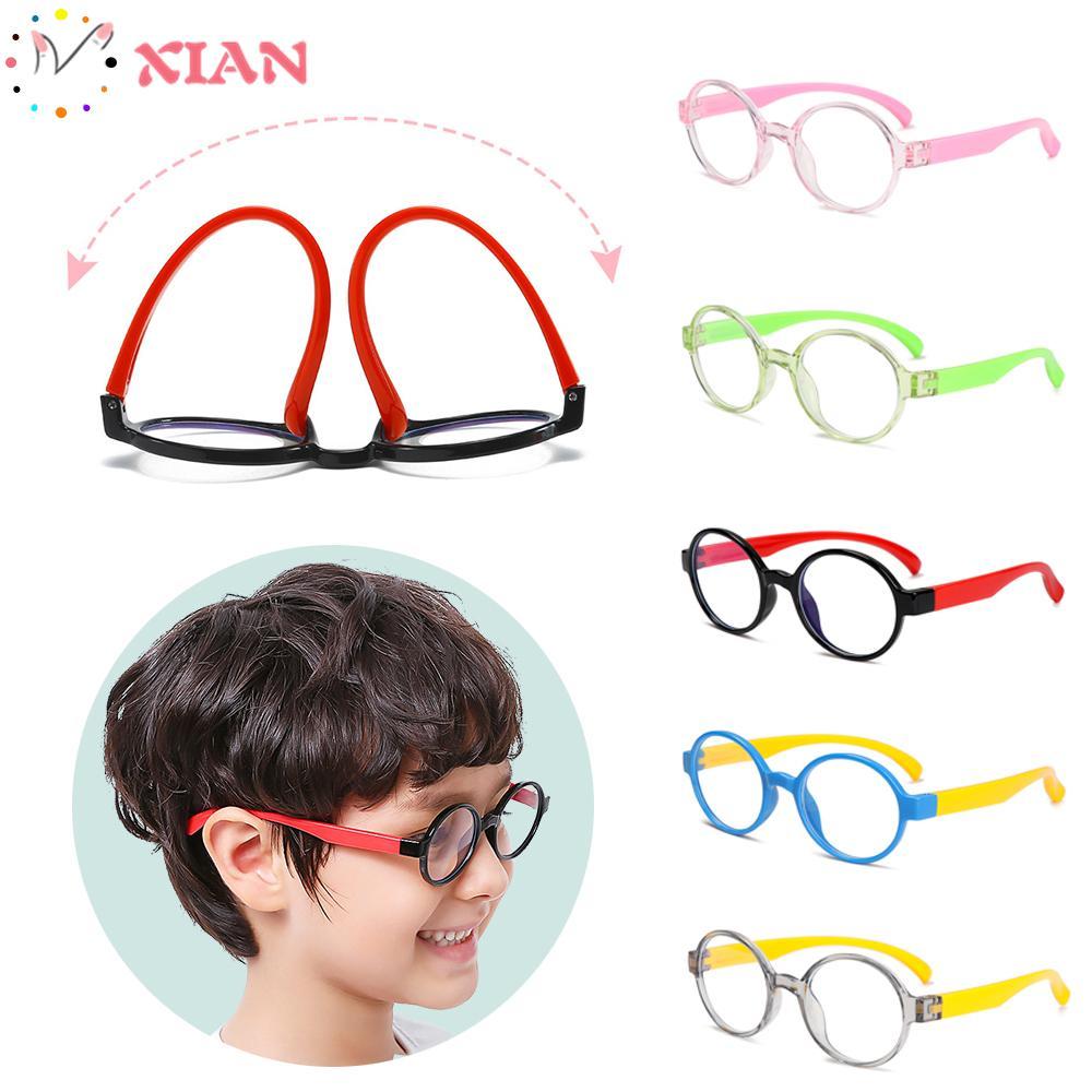XIANSTORE Ultralight Children Goggles Radiation Protection Kids Eyeglasses Anti-blue Light Glasses Vision Care Soft Frame Anti-blue Rays Boys Girls Fashion...