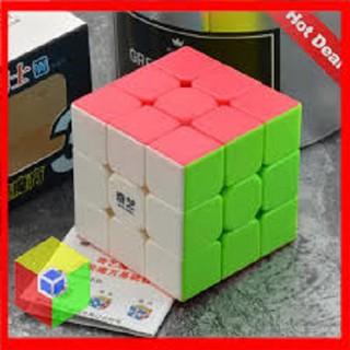 Đồ chơi rubix 3×3 hàng công ty cực trơn có sách hướng dẫn không viền