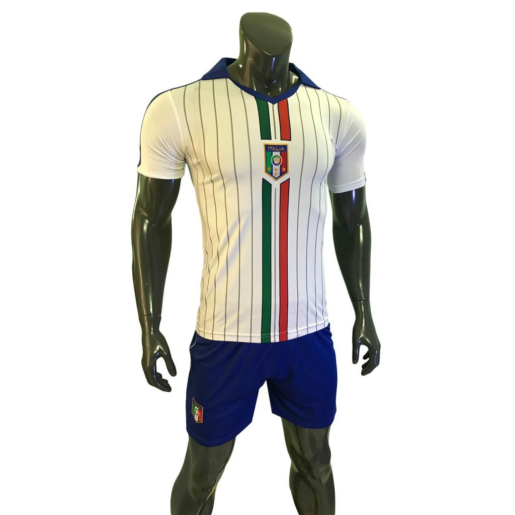 Bộ đồ đá banh đội tuyển Ý Italy màu trắng PN