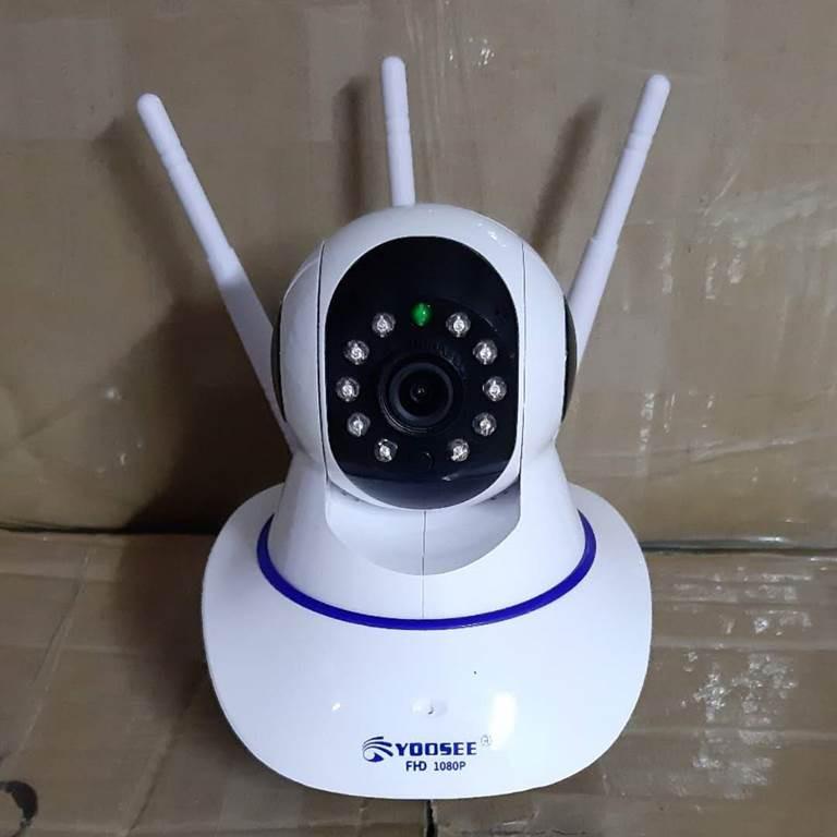(tặng thẻ nhớ 32gb) Camera ip wifi app yoosee 3 râu 1080P khe thẻ nhớ trên đầu - quan sát trong nhà (bảo hành 12 tháng)
