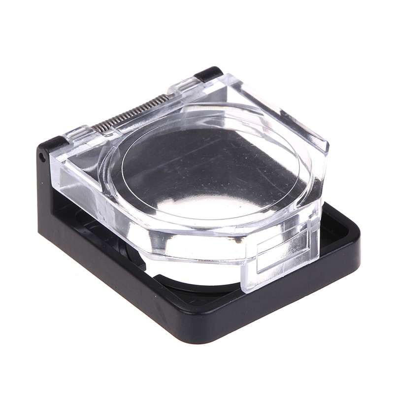 [CARD&vn] Black 22mm clear plastic push button switch guard protector