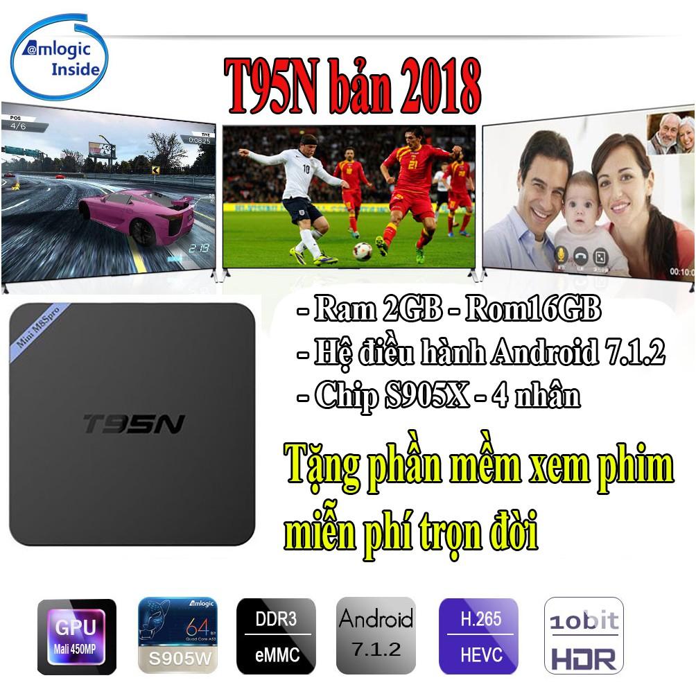 Tivi Box Android T95N Rom 2G - Ram 16G bảo hành 12 tháng 1 đổi 1