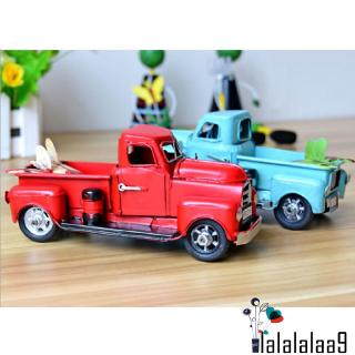 ✤-New Vintage Red Metal Truck Easter Ornament Kids Best Gifts Toy Table Top Decor