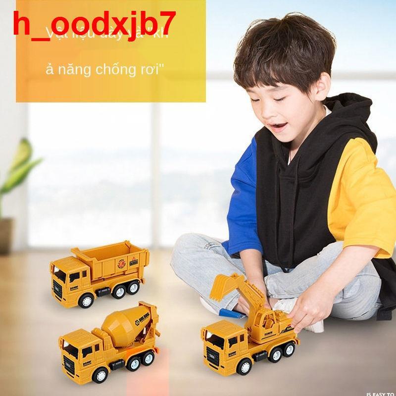 Đồ chơi mô phỏng phương tiện kỹ thuật quán tính dành cho trẻ em chống rơi xe tải trộn máy xúc hình móc