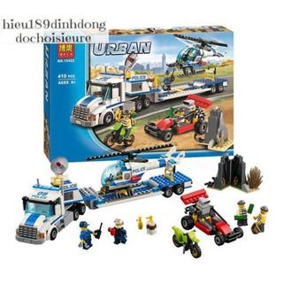 Lắp ráp xếp hình not lego City 60049 Bela 10422 Trực thăng vận tải thumbnail