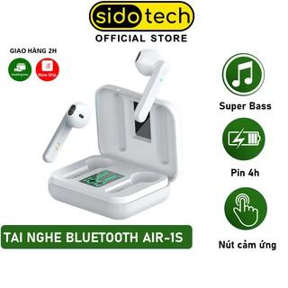 Tai nghe không dây TWS bluetooth mini true wireless pin trâu chống ồn có mic màn LED gaming thể thao - SIDOTECH Air1S thumbnail