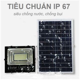 Đèn pha năng lượng mặt trời 100w.