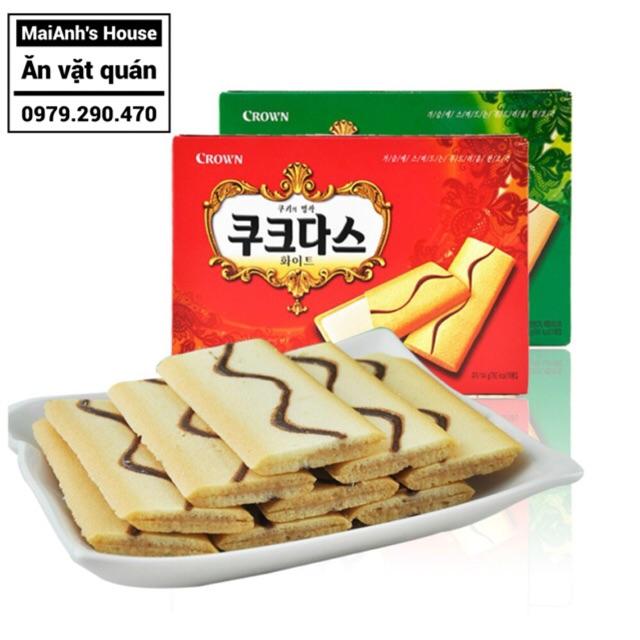 Bánh kẹp nhân kem Crown Hàn Quốc các vị vani - cafe (hộp 288g)