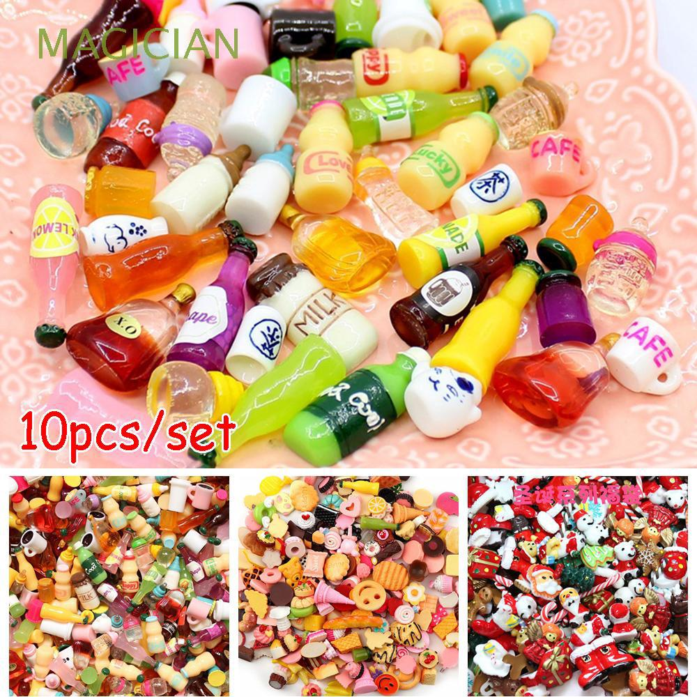 10pcs Random Sent Colorful Craft Making Scrapbooking Mix Cake Candy Bottle toy 1:12 Dollhouse Accessories