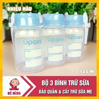 Bộ 3 Bình trữ sữa UPASS (không hộp) 125ml b UP0101W cất trữ tiện lợi thumbnail