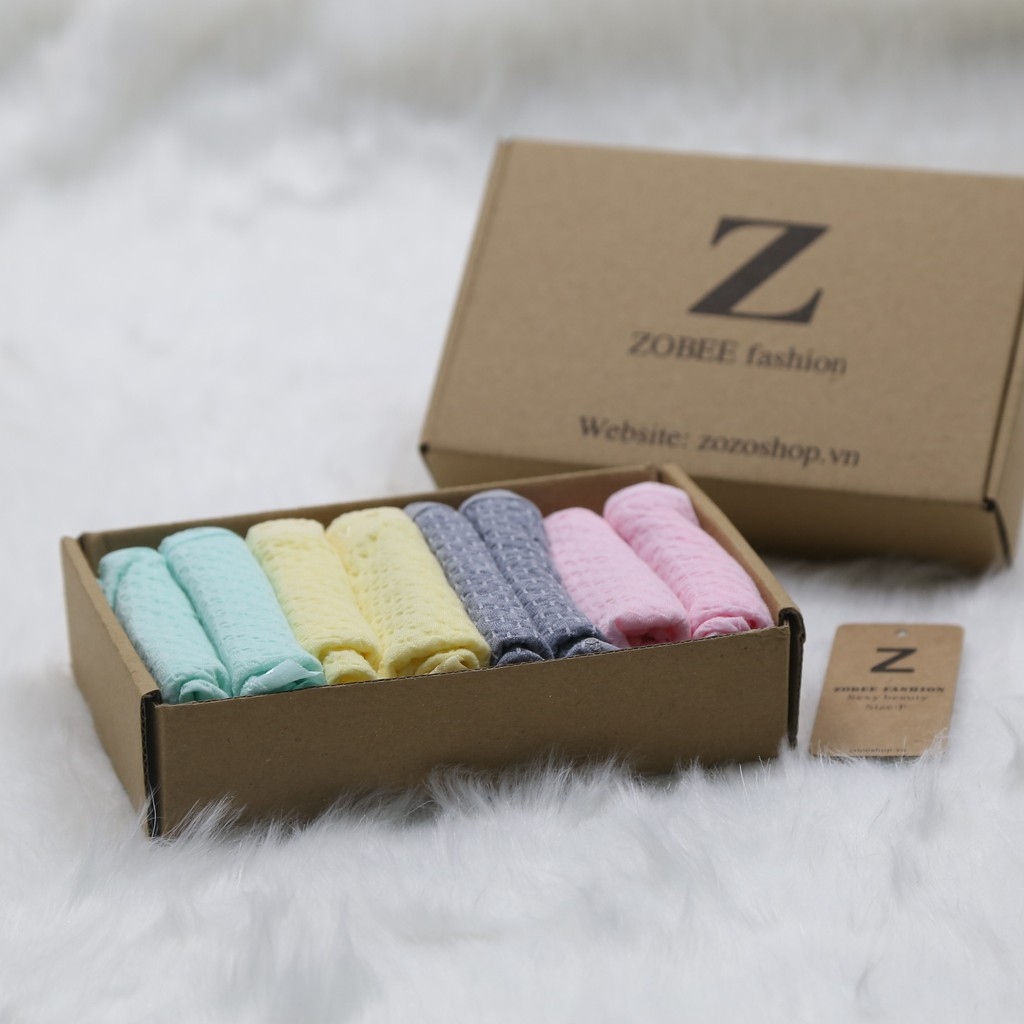 [Mã WAXIEXIE giảm 15% đơn bất kỳ] ZOBEE Combo 8 quần lót nữ cotton kèm hộp QL 8108