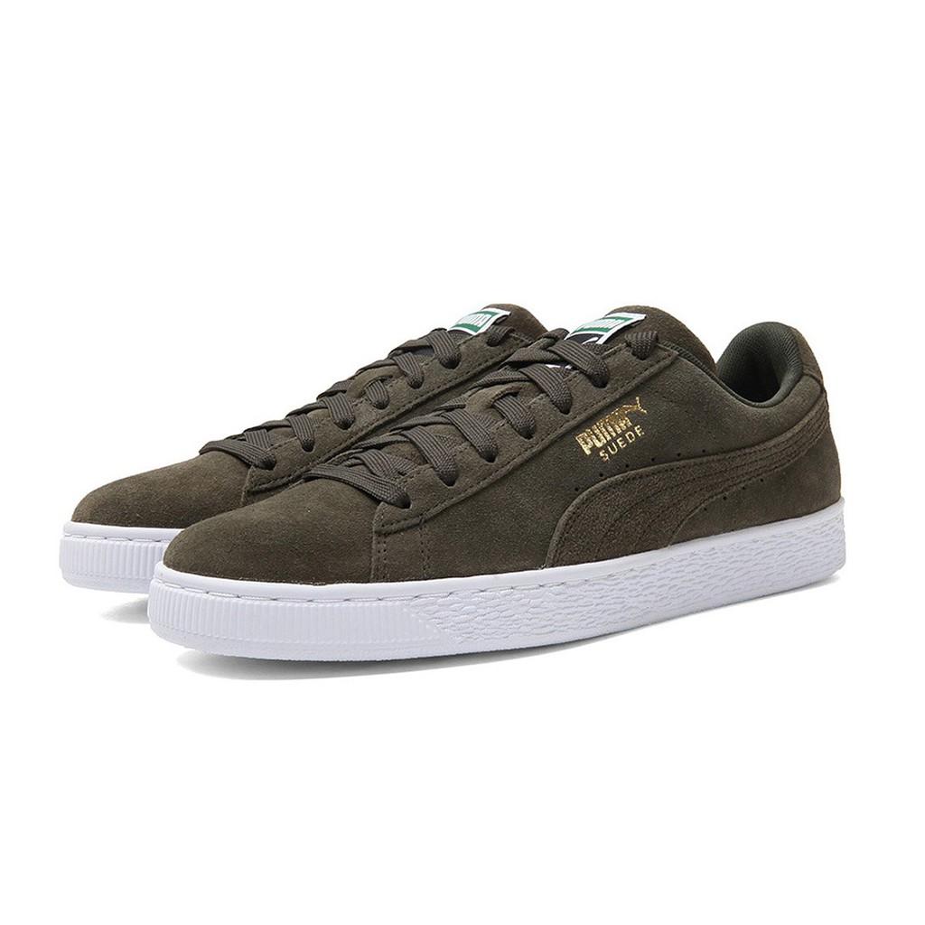 Giày thể thao unisex Puma Suede Classic màu rêu trắng