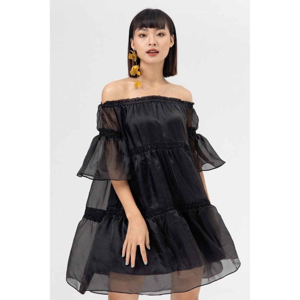 IVY moda Đầm Voan Trễ Vai Ms48