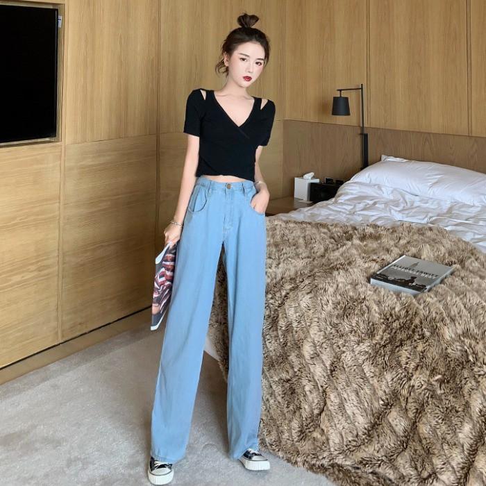 Set quần áo denim thời trang dành cho nữ