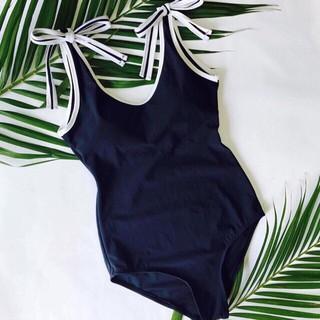 Set bikini bộ bơi đi biển liền thân nơ vai kín đáo sang trọng EVA LTNV